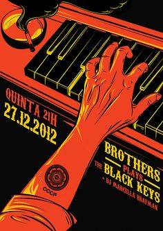 CCCP Black Keys Brothers gig poster