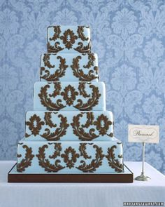 "See the ""Damask Wedding Cake"" in our  gallery"