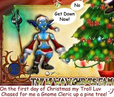 World of Warcraft by Tom Butler  Created for Top10WoWGuiges.com  On the first day of Christmas....  #WoW