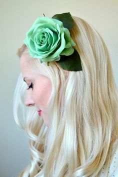 Tattooed Martha - DIY Hair Flower Clips (4)