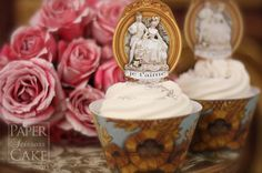 cupcake toppers and paper cups