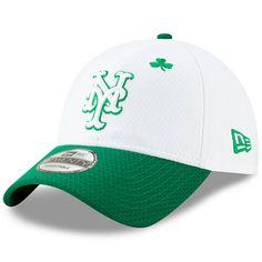Men s New York Mets New Era White Kelly Green 2019 St. Patrick s Day 9TWENTY 68c0b0d2f9d0