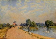 The Road from Hampton Court, 1874, Alfred Sisley
