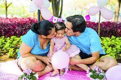 Smash the Cake da Alice - Família!!  Ensaio feito durante acompanhamento mensal infantil em Sumaré - SP