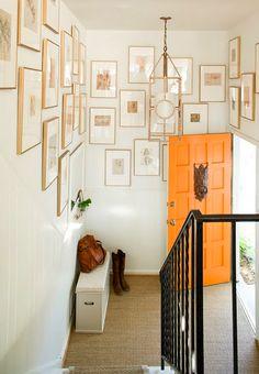 love the orange door. The frames are just like mine