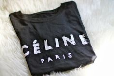 How to Chic: CELINE TEE BLACK