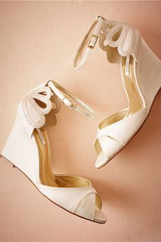 For the laid-back bride, these pretty wedges are the perfect fit.