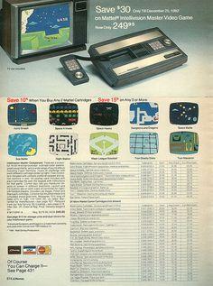 Vintage Games, Childhood Memories, Geek Stuff, Consoles, Catalog, Christmas, Toys, Geek Things, Xmas
