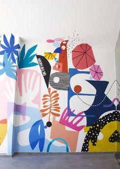 graffiti for kids wall murals Mural Wall Art, Mural Painting, Inspiration Wall, Painting Inspiration, Office Mural, Wal Art, Keramik Design, Wall Design, Design Design