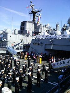 South Korea and new technology on army ships