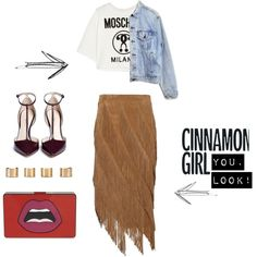 Cinnamon Girl YOU. Look! by alcalams on Polyvore featuring moda, Moschino, Levi's, Exclusive for Intermix, 3.1 Phillip Lim, Yazbukey and Maison Margiela 3.1 Phillip Lim, Personal Branding, Moschino, Milan, Cinnamon, Outfit Ideas, Fashion Outfits, Polyvore, Style