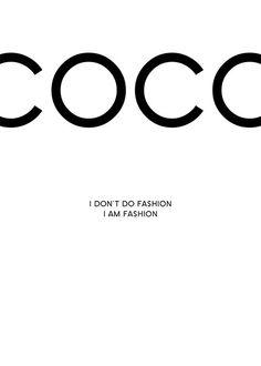 Coco Chanel tavla   Poster och prints med fashion citat   Affischer online
