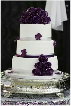 Love the simplicity of this. The dark purple contrasts beautifully against the white
