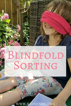 Blindfold sorting gives your child an opportunity to manipulate the information using different senses. games make fun. Sorting Games, Sorting Activities, Math Games, Activities For 5 Year Olds, Creative Activities, Learning Resources, Fun Learning, Fun Games For Kids