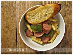 Kielbasa & Peppers with Ziti