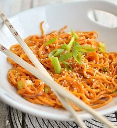 We love sweet potato & we love noodles so when we came across this recipe for sweet potato noodles, we had to share it with the Food Matters community!