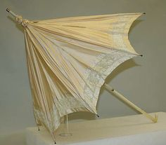 Late 19th century French silk and ivory parasol