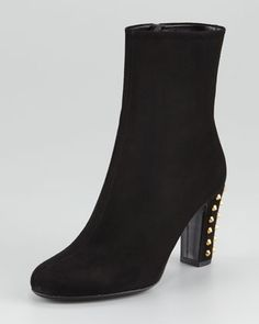 Jacquelyne Stud-Heel Boot, Black by Gucci at Neiman Marcus.