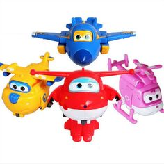 NEW ARRIVAL- 4pc Super Wings Toys Mini Planes Kids Intelligence Educational Toy