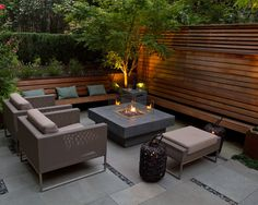 modern square patio fire pit - Google Search