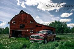Dodge ram 1500 at a barn