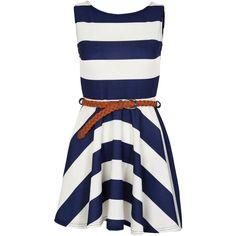 Miso Stripe Dress via Polyvore