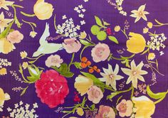 At MondaysMilk you`ll find an online treasury of unique and absolute gorgeous FABRICS, patterns and tools for maker's hands. Japanese Textiles, Japanese Fabric, Fabric Patterns, Print Patterns, Baby Kiss, Gorgeous Fabrics, Sewing Crafts, Floral Prints, Purple