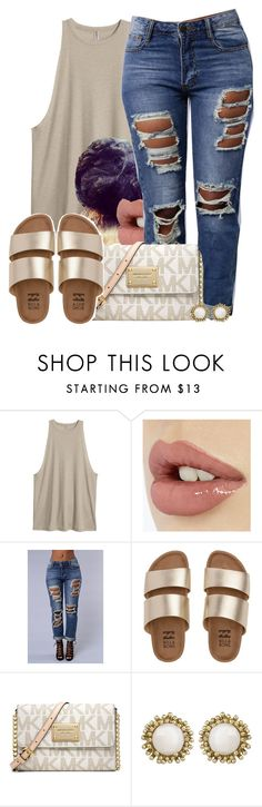 """""""Untitled #634"""" by b-elkstone ❤ liked on Polyvore featuring Billabong, Michael Kors and Kendra Scott"""