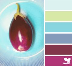 aubergine palette via design seeds