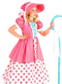 Kids-Girls-Pink-Little-Bo-Peep-Shepherd-Halloween-Costume