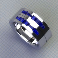 Droid Tools Band Double- Gents - Star Wars Rings - Ideas of Star Wars Rings - Always trying to make and find the good stuff! Bijoux Star Wars, Star Wars Jewelry, Geek Jewelry, Metal Jewelry, Fine Jewelry, Jewelry Design, R2d2 Ring, Star Wars Ring, Arte Alien