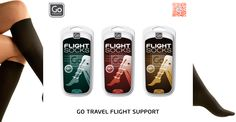 GO TRAVEL FLIGHT SUPPORT.    Medically approved compression flight socks.    Aid in Improving blood circulation and helps prevent swollen ankles and tired legs on long haul flights.    Comes in 3 different sizes.    #tgt #thegoodthings #gotravel