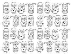 Free coloring page coloring-very-numerous-minions. Very numerous Minions to color Free Coloring Pages, Printable Coloring Pages, Minions Images, Diagram, Crafty, Halloween, Maths, Coloring Pages, Free Colouring Pages