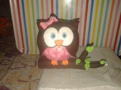 Owl fondant topper