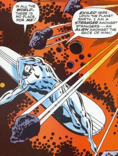Silver Surfer by John Buscema Marvel Heroes, Marvel Dc, Marvel Comics, Surfer Party, Silver Surfer Comic, Fantastic Four Marvel, John Buscema, Purple Wine, Comic Panels