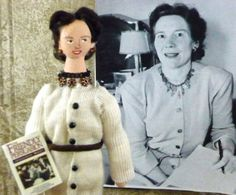 Jessamyn West  Author of the Friendly Persuasion Doll Art Collectible Miniature