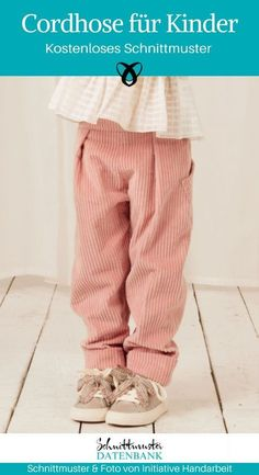 Cordhose für Kinder Pants for kids sew with elastic corduroy pants boys girls free sewing pattern do Sewing Projects For Kids, Sewing For Kids, Sewing Patterns Free, Free Sewing, Sewing Tips, Toddler Fashion, Kids Fashion, Fashion 2016, Fashion Hats