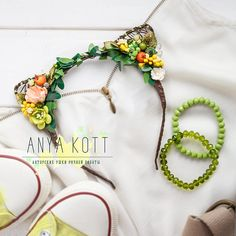 floral head wreath Сat Ears Headbands Floral cat earsflower