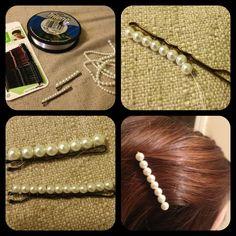 Perlenhaar-Brosche - - Perlenhaar-Brosche - Ale A Broche cabello con Perlas Perlenhaar-Brosche Bead Crafts, Jewelry Crafts, Handmade Jewelry, Hair Beads, Diy Hair Accessories, Hair Ornaments, Hair Jewelry, Silver Jewelry, Diy Hairstyles