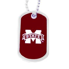 Mississippi State Bulldogs Domed Dog Tag Necklace