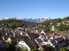 Feldkirch, view from the castle - photo by H. Irowez