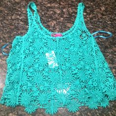 Crocheted top! This top would be very cute as a beach cover up! Tops Camisoles