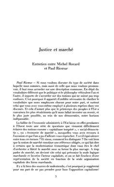 Justice et marché
