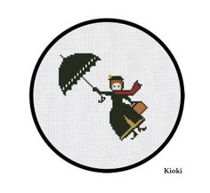 Cross Stitch Pattern Mary Poppins by TinyNeedle on Etsy