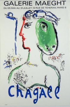 Plakate Marc Chagall Affiche Marc Chagall Poster Marc Chagall title L'Artiste Phénix  technology Original color lithograph