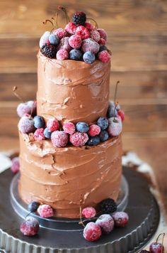 Tarta de chocolate de dos pisos