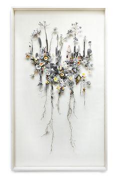 Flower construction #16 (w:70 h:120 d:6.5 cm)