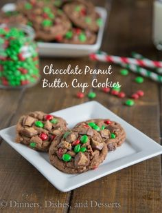 Chocolate Peanut Butter Cup Cookies are super soft, fluffy, and full of chocolate and peanut butter! Made with Reese's spread so the whole cookie is full of flavor.