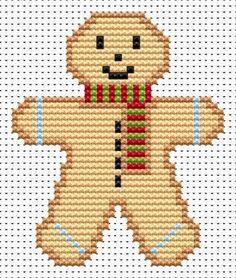 Gingerbread Man Cross Stitch - Sew Simple