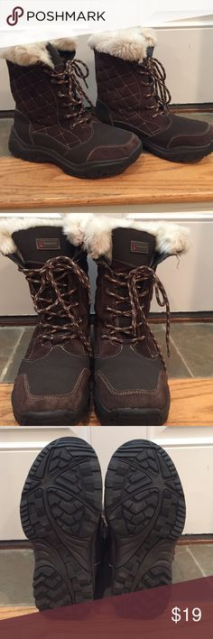 Alpine Design Thinsulate Lined Boots Nice brown lug soled winter boots. Women's size 7; leather/man made upper; balance man made; faux fur. Cute! Alpine Design Shoes Winter & Rain Boots